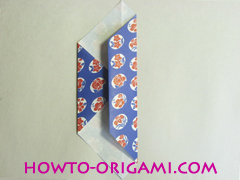 Chopstick wrapper origami - How to make chopsticks wrapper origami instruction no.7