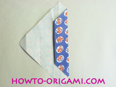Chopstick wrapper origami - How to make chopsticks wrapper origami instruction no.9