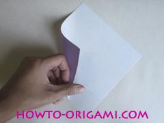 Chopsticks origami - How to make Chopsticks cover origami instruction step 1