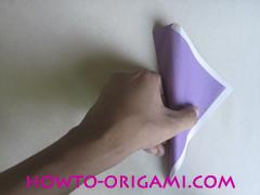 Chopsticks origami - How to make Chopsticks cover origami instruction step 10
