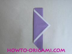 Chopsticks origami - How to make Chopsticks cover origami instruction step 11