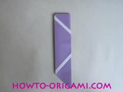 Chopsticks origami - How to make Chopsticks cover origami instruction step 12