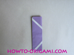 Chopsticks origami - How to make Chopsticks cover origami instruction step 13