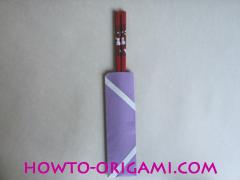 Chopsticks origami - How to make Chopsticks cover origami instruction step 14