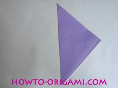 Chopsticks origami - How to make Chopsticks cover origami instruction step 2