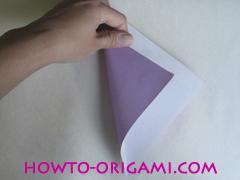Chopsticks origami - How to make Chopsticks cover origami instruction step 3