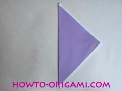 Chopsticks origami - How to make Chopsticks cover origami instruction step 4