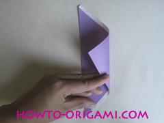 Chopsticks origami - How to make Chopsticks cover origami instruction step 5