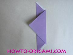 Chopsticks origami - How to make Chopsticks cover origami instruction step 6