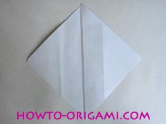 Chopsticks origami - How to make Chopsticks cover origami instruction step 7