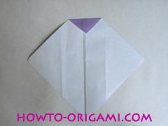Chopsticks origami - How to make Chopsticks cover origami instruction step 8