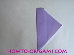 Chopsticks origami - How to make Chopsticks cover origami instruction step 9