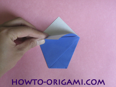 how to origami a drinking cup glass instruction6 - easy origami for kid