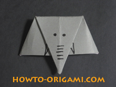 how to origami elephant instruction 10 - easy origami for kids