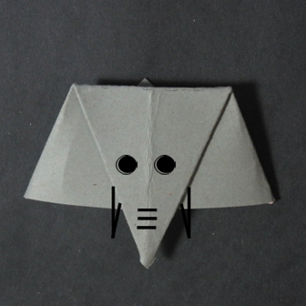 how to origami an elephant face- easy origami for kid