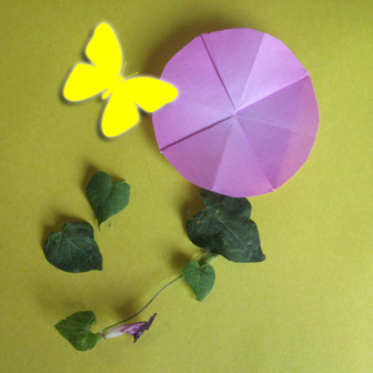 flower origami, how to origami a morning glory flower instruction - easy origami instructions for kids