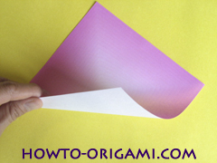 Flower origami instruction 1 - how to origami a morning glory flower - easy origami instruction for kids