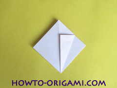 Flower origami instruction 12 - how to origami a morning glory flower - easy origami instruction for kids