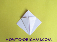 Flower origami instruction 13 - how to origami a morning glory flower - easy origami instruction for kids