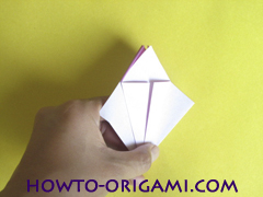 Flower origami instruction 14 - how to origami a morning glory flower - easy origami instruction for kids