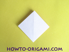 Flower origami instruction 15 - how to origami a morning glory flower - easy origami instruction for kids