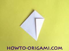 Flower origami instruction 16 - how to origami a morning glory flower - easy origami instruction for kids