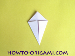 Flower origami instruction 17 - how to origami a morning glory flower - easy origami instruction for kids