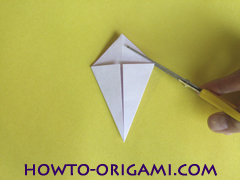 Flower origami instruction 18 - how to origami a morning glory flower - easy origami instruction for kids