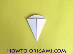 Flower origami instruction 19 - how to origami a morning glory flower - easy origami instruction for kids