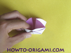 Flower origami instruction 22 - how to origami a morning glory flower - easy origami instruction for kids