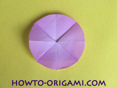 Flower origami instruction 23 - how to origami a morning glory flower - easy origami instruction for kids