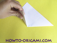 Flower origami instruction 3 - how to origami a morning glory flower - easy origami instruction for kids