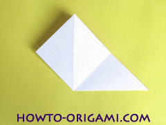 Flower origami instruction 6 - how to origami a morning glory flower - easy origami instruction for kids