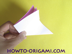 Flower origami instruction 7 - how to origami a morning glory flower - easy origami instruction for kids