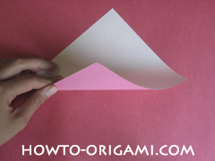 Flower tulip origami - how to origami flower tulip instruction 1