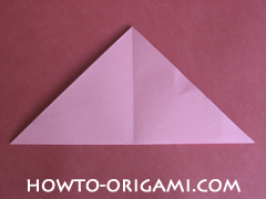 Flower tulip origami - how to origami flower tulip instruction 4