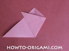 Flower tulip origami - how to origami flower tulip instruction 5