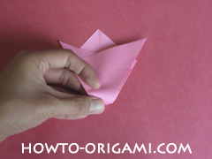 Flower tulip origami - how to origami flower tulip instruction 7