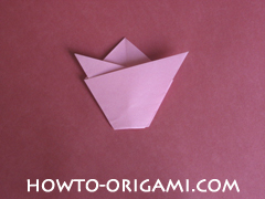 Flower tulip origami - how to origami flower tulip instruction 8