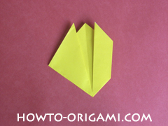 Easy tulip flower origami instruction 10 - how to origami flower tulip