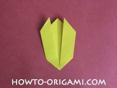 Easy tulip flower origami instruction 11 - how to origami flower tulip