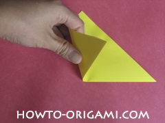 Easy tulip flower origami instruction 3 - how to origami flower tulip