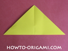Easy tulip flower origami instruction 5 - how to origami flower tulip