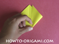 Easy tulip flower origami instruction 6 - how to origami flower tulip