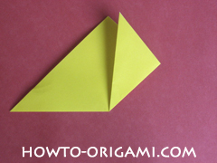 Easy tulip flower origami instruction 7 - how to origami flower tulip