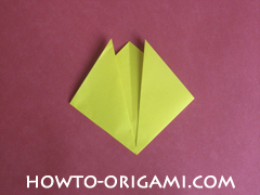 Easy tulip flower origami instruction 8 - how to origami flower tulip
