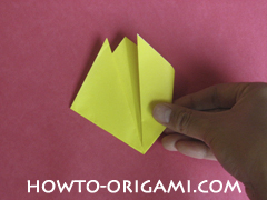 Easy tulip flower origami instruction 9 - how to origami flower tulip