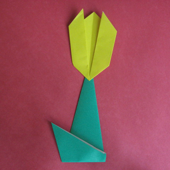how to origami flower - tulip 2