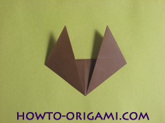 how to origami fox instruction 10 - easy origami for kid