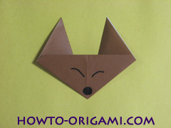 how to origami fox instruction 12 - easy origami for kid